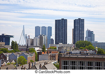 View at skyline of Rotterdam, The Netherlands