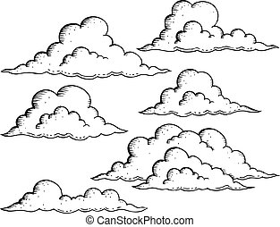 Clouds drawings theme image illustration.