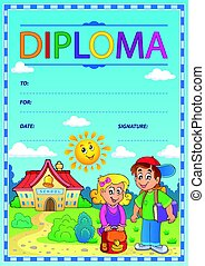 Diploma subject image 4 - eps10 vector illustration.
