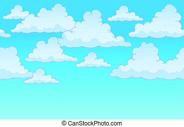 Horizontally seamless sky with clouds 1 - eps10 vector...