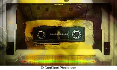 Old color audio tape