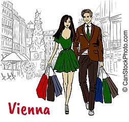 Couple in Vienna