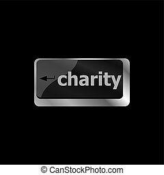 computer keyboard key for charity - business concept