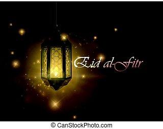 Eid al-Fitr - Eid al Fitr. Vector islamic religious...