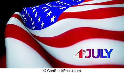Independence Day. 4th of July. United States of America...