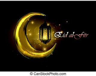 Eid al-Fitr. Vector islamic religious illustration of Eid...