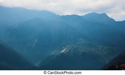 Beautiful view of the Fansipan mountain from the observation...