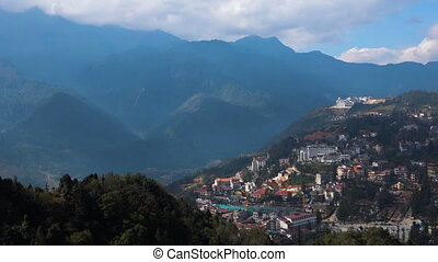 Beautiful views of Sa Pa town from the observation deck....