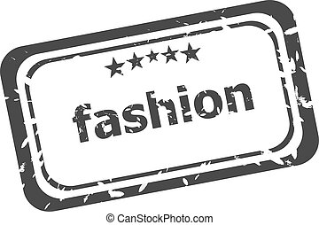 Fashion word in a grunge style stamp isolated on white