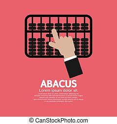 Abacus A Traditional Counting Frame Vector Illustration