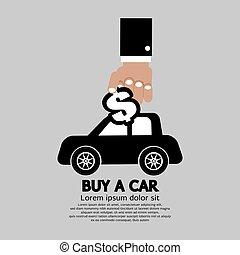 Buy A Car Concept Vector Illustration
