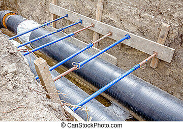 Shoring supports walls of a trench to protect workers