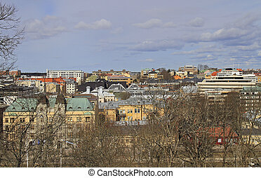 view from the hill of Turku, Finland