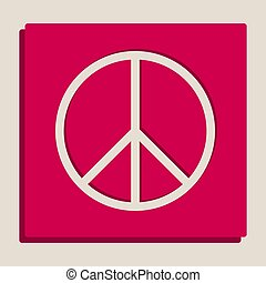 Peace sign illustration. Vector. Grayscale version of...