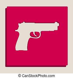 popart-style, Ilustración, grayscale, arma de fuego, señal,...