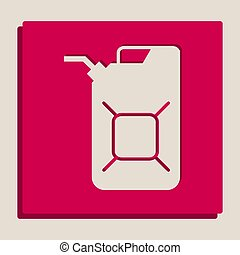 Jerrycan oil sign. Jerry can oil sign. Vector. Grayscale...