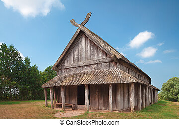 Ancient Viking Dwelling - An ancient viking house in...