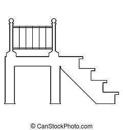 Porch   the black color icon .