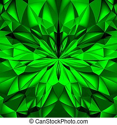 Abstract Background - Abstract Green Composition. Magic...