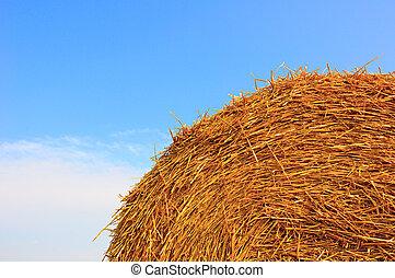 Straw haystack