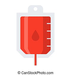 Blood Transfusion Icon - Blood transfusion concept with...