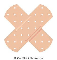 Adhesive Bandage Icon - Adhesive bandage, vector...