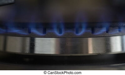 gas burner. Concept of gas shortage