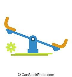 Carousel rocker for children amusement isolated on white...