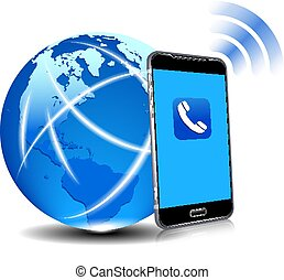 Global Connection Phone Cell Smart Mobile Phone App