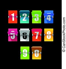 Colorful counter with digits