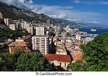 Monte Carlo mountain view - Monte Carlo seen from the Exotic...