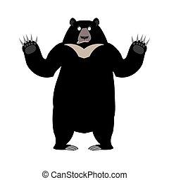 Himalayan bear Surprise emotion. wonderl wild animal emoji....