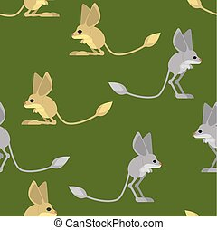 Jerboa pattern. Steppe animal background. Wildlife Texture