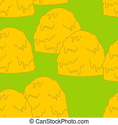 Haystack pattern. Hay stack background. Arable land texture....
