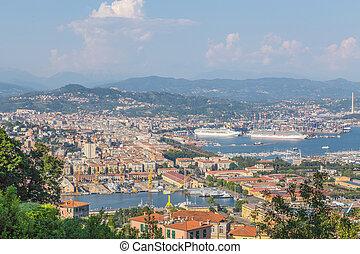 Panoramic view on La Spezia Liguria Italy.