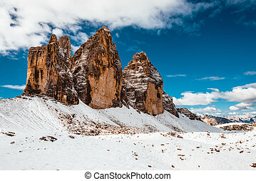 Alps mountains view - Beautiful view of high towers in Italy...