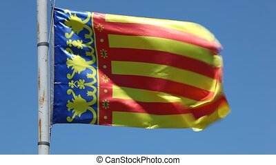 Flag of the Community of Valencia, Spain - Flag of the...