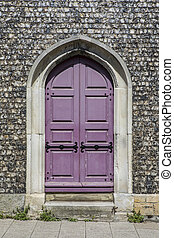 Doorway at St. Michaels Church in Lewes - A doorway at the...