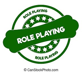 ROLE PLAYING green stamp. Illustration graphic concept image