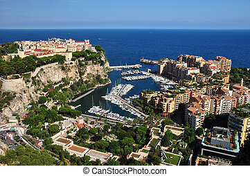 Monte Carlo view - Monte Carlo seen from the Exotic Garden