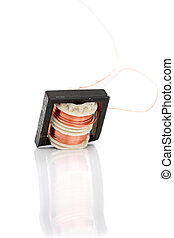 Small device Transformer on white background,image of a