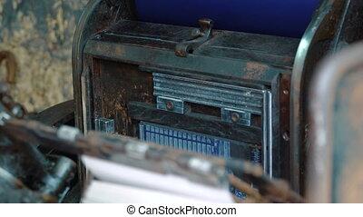 old vintage printing press