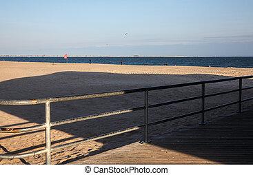 Brighton Beach in NYC - Brighton Beach is an oceanside...