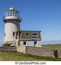 The Belle Tout Lighthouse in the UK - A view of the Belle...