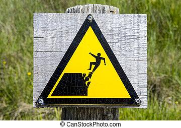 peligroso, borde, acantilado