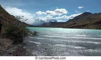 Mountain river and relax in Patagonia Argentina. Unique...