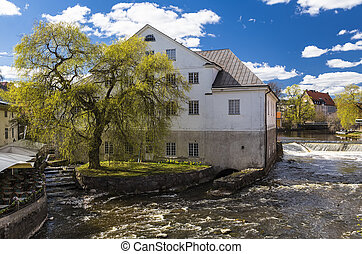 Fyris and the Uppland museum - The river Fyris and the...