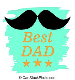 Happy Father Day graphic design, Vector illustration