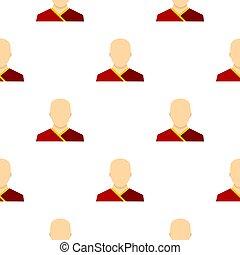 Buddhist monk pattern flat - Buddhist monk pattern seamless...