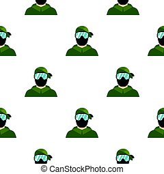 Paintball player pattern flat - Paintball player pattern...